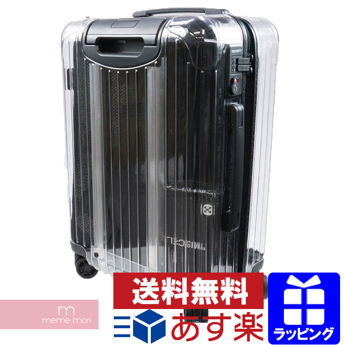 OFF-WHITE×RIMOWA 2018SS Suitcase Carry Bag オフホワイト×リモワ スーツケース キャリーバッグ キャリーケース トロリーバッグ クリア クリスマス ギフト プレゼント