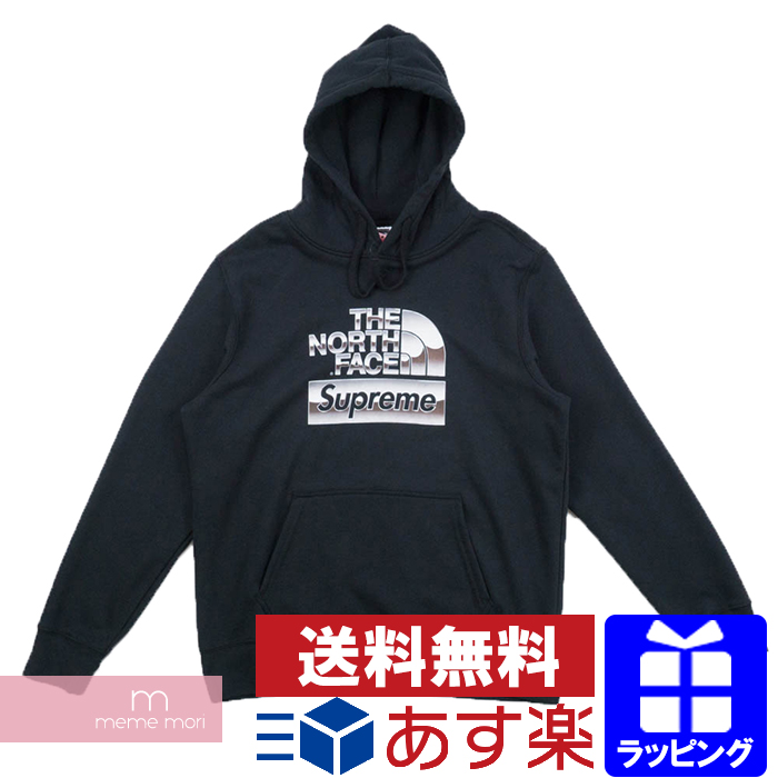 Supreme X THE NORTH FACE 2018SS Metallic Logo Hooded Sweatshirt シュプリーム X North Face metallic logo hooded sweat shirt parka black size L present gift