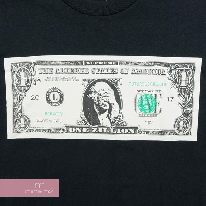 3cbbc31ff579 ... Supreme 2017AW Dollar Tee シュプリームダラー T-shirt greenback bill black size M  Father's Day ...