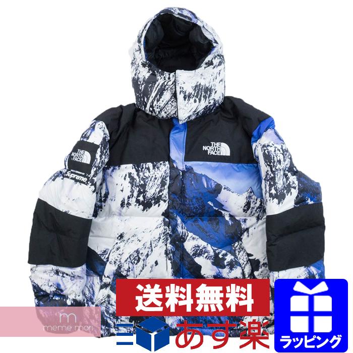Supreme×THE NORTH FACE 2017AW Mountain Baltoro Jacket シュプリーム×ノースフェイス バルトロ雪山ダウンジャケット ホワイト×ブルー サイズS プレゼント ギフト【me02】【新古品】