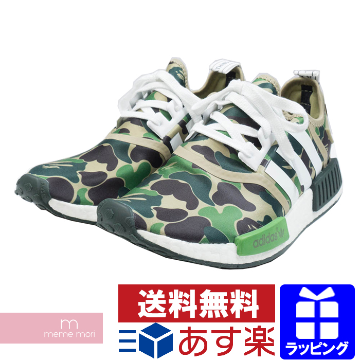 a3c8dc8d0bc1 adidas X A BATHING APEBA7326 Adidas X アベイシングエイプエヌエムディーローカットスニーカーカモフラ  pattern green size US8 1 2(26.5cm)