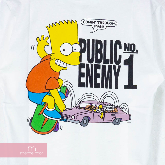 9d5b84f0e62 OFF-WHITE 2019SS Bart Public Enemy S S Skinny Tee off-white the Simpson s  baht public enemy T-shirt short sleeves white size S present gift