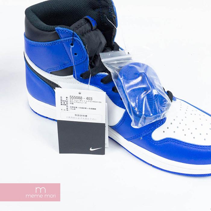 best service 8f623 f3355 NIKE AIR JORDAN 1 RETRO HIGH GAMEROYAL OG 555,088-403 Nike air Jordan 1  nostalgic high game royal sneakers blue X white size US9(27cm) present gift