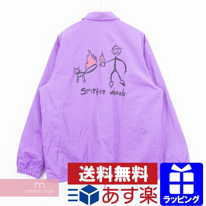 14ecc2ea6 Supreme X Spitfire 2018SS Coach Jacket シュプリーム Xs pit fire coach jacket  blouson purple size XL present gift