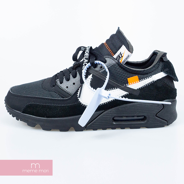 OFF WHITE X NIKE 2019SS THE 10 AIR MAX 90 AA7293 001 off white X Kie Ney AMAX 90 low frequency cut sneakers black size US10(28cm) present gift