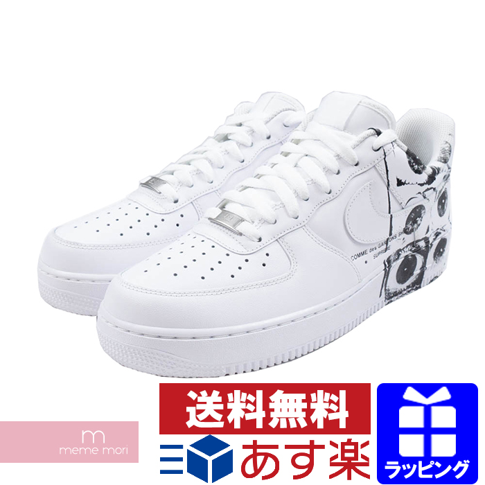 Hot Selling Supreme x CDG x Nike Air Force 1 Black White 923044 100 Women's Men's Casual Shoes Sneakers 923044 100