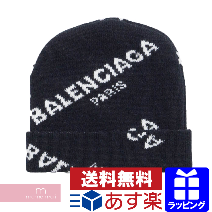 5ca84db8ec1eb USED SELECT SHOP meme mori  BALENCIAGA 2017AW Jacquard Logo Beanie ...