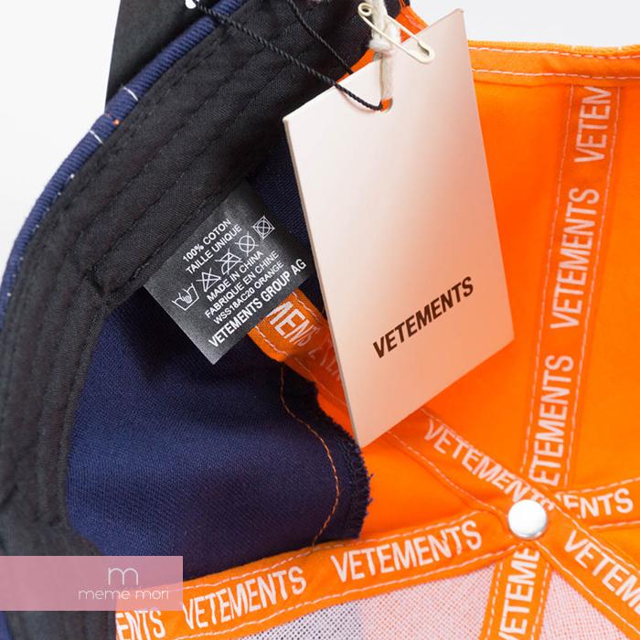 Used Select Shop Meme Mori Vetements Cotton Cap Zurich ヴェトモン