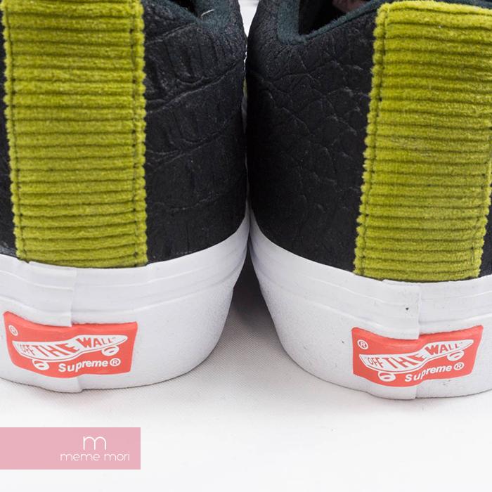 30559a722c Supreme X Vans 2018SS Crocodile Corduroy Lampin Pro シュプリーム X vans crocodile  corduroy orchid pin pro low-frequency cut sneakers khaki X black ...