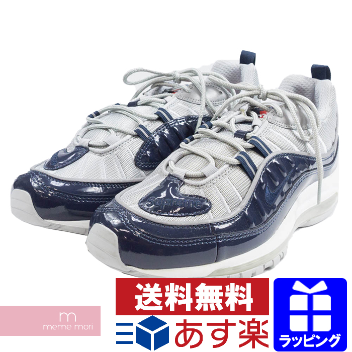 new product e2e21 0226e Supreme X NIKE 2016SS AIR MAX 98 844,694-400 シュプリーム X Kie Ney AMAX 98  sneakers navy size US9.5(27.5cm)