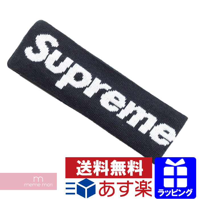 Supreme×New Era 2018AW Big Logo Headband シュプリーム×ニューエラ ビッグロゴヘッドバンド ヘアバンド ブラック プレゼント ギフト【191126】【gs】【新古品】