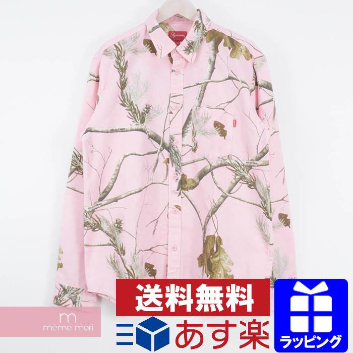 Supreme 2017AW Realtree Camo Flannel Shirt シュプリーム リアルツリーカモフランネルシャツ ピンク サイズL
