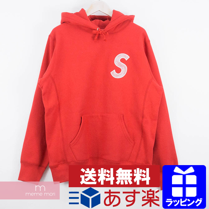 Supreme 2018AW S Logo Hooded Sweatshirt シュプリーム Sロゴフーデッドスウェットシャツ パーカー レッド サイズL