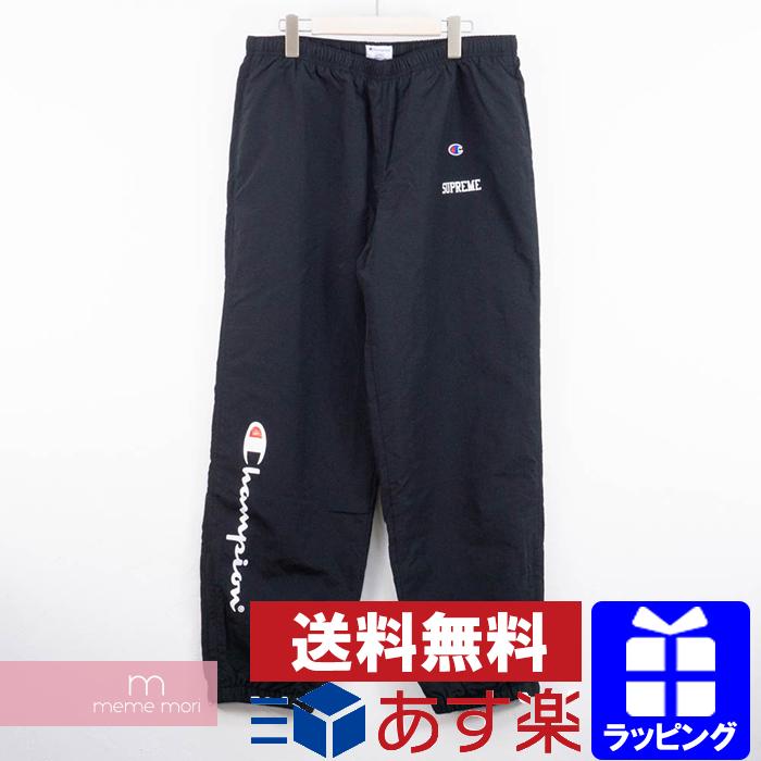 Supreme×Champion 2018SS Track Pant シュプリーム×チャンピオン トラックパンツ ブラック サイズL