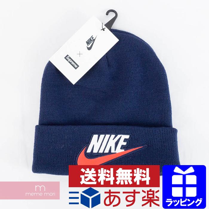 Supreme X NIKE 2018AW Logo Beanie シュプリーム X Nike logo beanie knit hat navy 6cf678167fc4