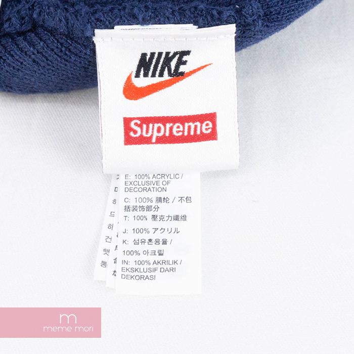 473c8ae5ac59e Supreme X NIKE 2018AW Logo Beanie シュプリーム X Nike logo beanie knit hat navy  present gift