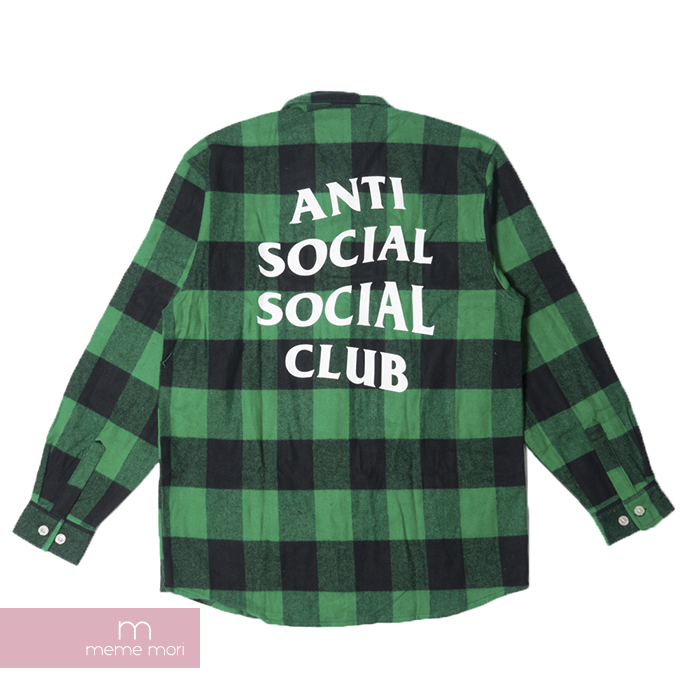 Anti Social Social Club 2017AW Montreal Flannel Shirts アンチソーシャルソーシャルクラブ モントリオールフランネルシャツ グリーン
