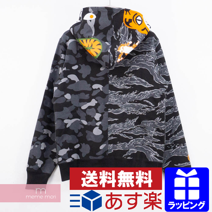 4d42b4eb A BATHING APE X UNDEFEATED 2018AW Tiger Shark Half Zip Up Hoodie アベイシングエイプ X  ...