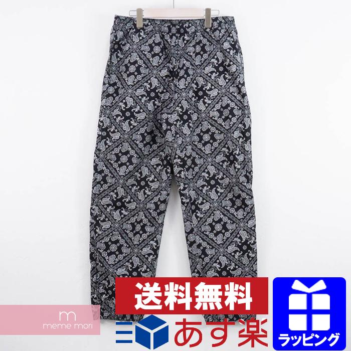 Supreme 2018SS Bandana Track Pant シュプリーム バンダナトラックパンツ ブラック サイズM