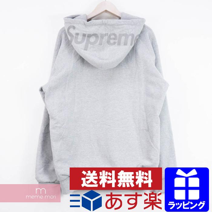 Supreme 2014AW 3M Reflective Logo Thermal Zip Up シュプリーム リフレクティブロゴサーマルジップアップフーディ パーカー グレー サイズXL