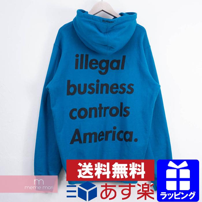 Supreme 2018SS Illegal Business Hooded Sweatshirt シュプリーム イリーガルビジネスフーデッドスウェットシャツ パーカー ブルー サイズL