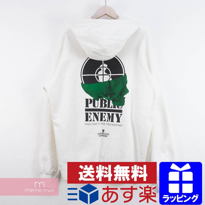 Supreme×UNDERCOVER×Public Enemy 2018SS Terrordome Hooded Sweatshirt シュプリーム×アンダーカバー×パブリックエネミー テラドームフーデッドスウェットシャツ パーカー ホワイト サイズL
