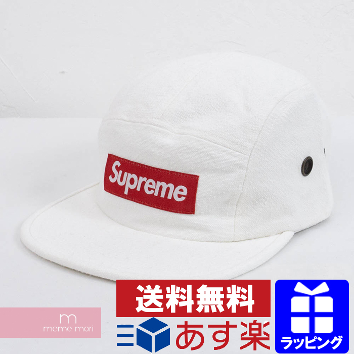 Supreme 2018aw Napped Canvas Camp Cap シュプリームネップ Processing Camping White Present Gift