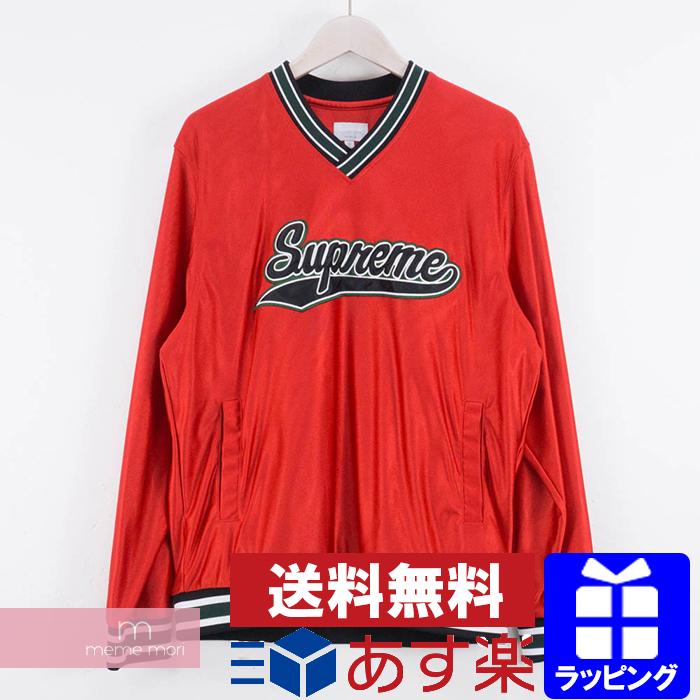 Supreme 2016AW Baseball Warm Up Top シュプリーム ベースボールウォームアップトップ ロングスリーブTシャツ ロンT レッド サイズM