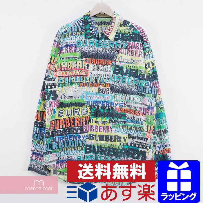 92ac0c01c8f9b2 BURBERRY Tag Print Cotton Shirts Burberry tag print cotton whole pattern  graffiti shirt multicolored size XL ...