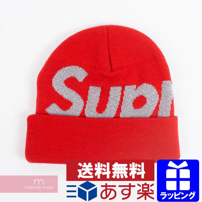 Supreme 2018AW Reflective Big Logo Beanie シュプリームリフレクティブビッグロゴビーニーニット hat red  Christmas gift present 123c94d2c85
