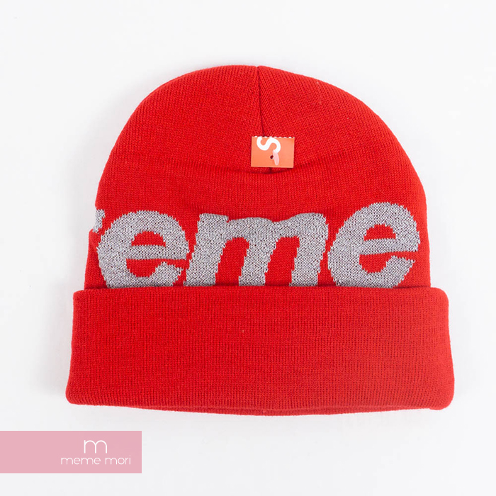 caf276f30a5 Supreme 2018AW Reflective Big Logo Beanie シュプリームリフレクティブビッグロゴビーニーニット hat red  Christmas gift present