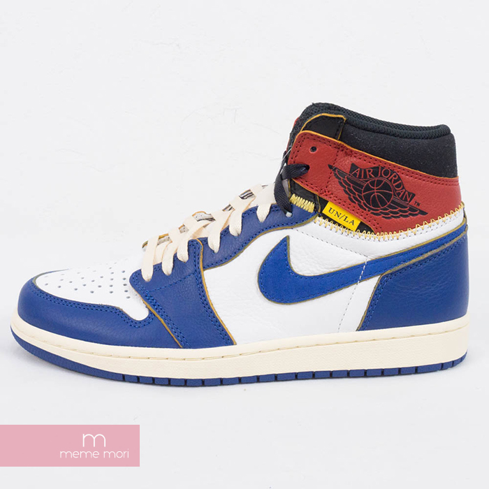 1d400911c635 NIKE X UNION AIR JORDAN 1 RETRO HI NRG UN BV1300-146 Nike X union Air  Jordan 1 nostalgic high sneakers blue size US9(27cm) present gift