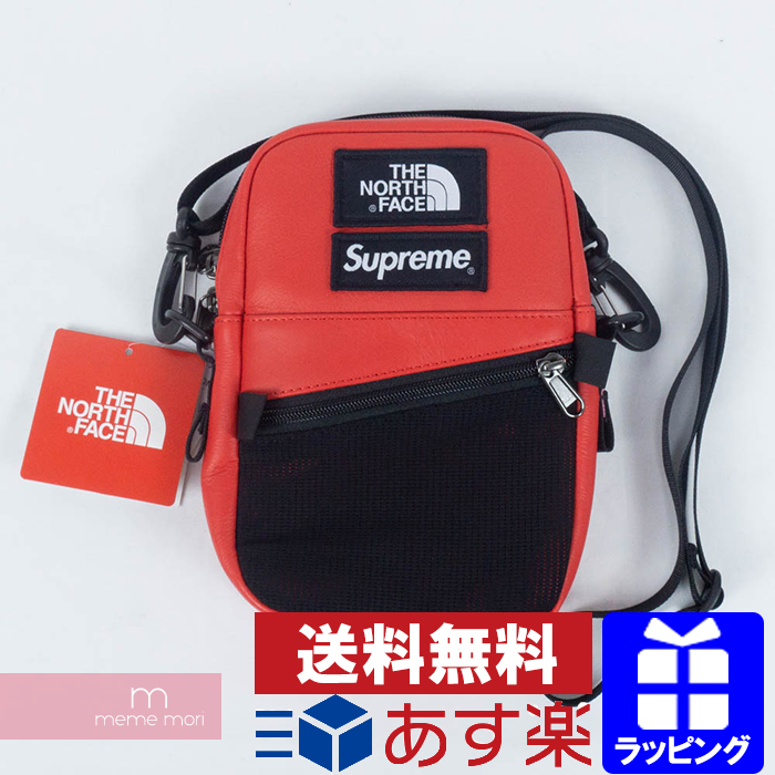 61a1fec99 Supreme X THE NORTH FACE 2018AW Leather Shoulder Bag シュプリーム X North Face  leather shoulder bag red present gift