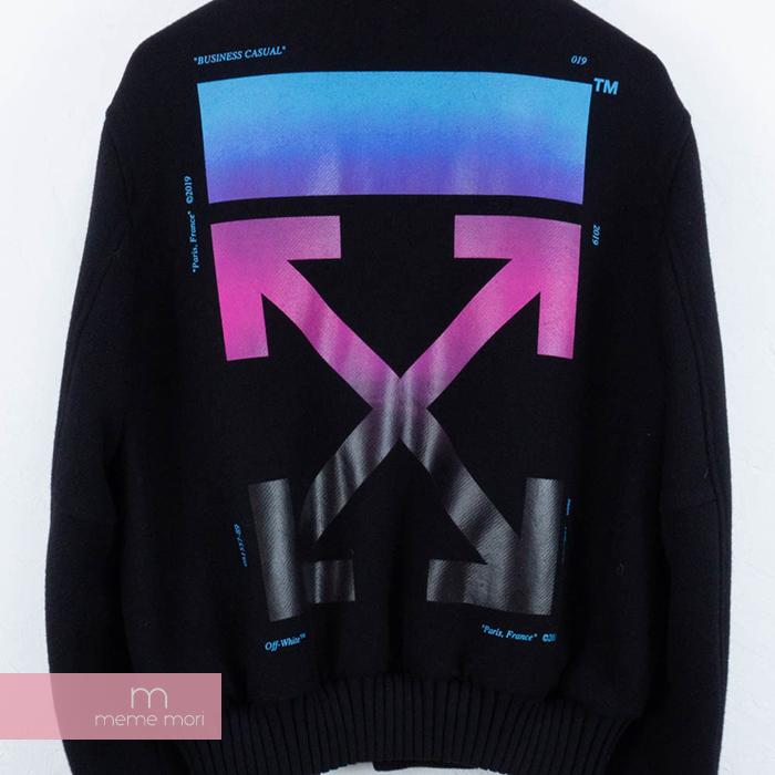 dfa1a2a74 OFF-WHITE 2018AW Black Gradient Diagonal Bomber Jacket off-white black  gradient die chin null Bonn bar jacket award jacket black size M present  gift