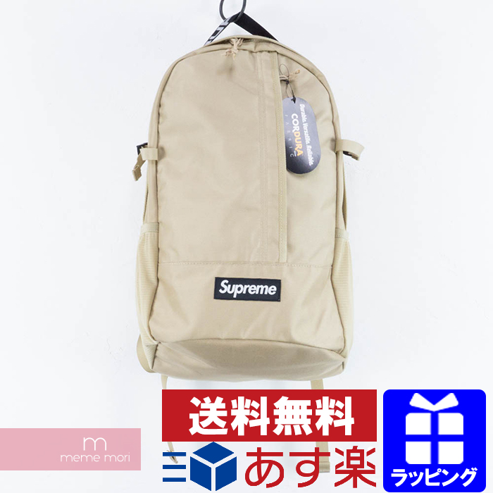 Supreme 2018SS Backpack TAN シュプリーム バックパック リュック バッグ ベージュ プレゼント ギフト【me04】【190603】【新古品】【sps】