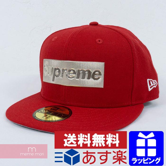 Supreme X New Era 2016SS Metallic Box Logo New Era Cap  シュプリームメタリックボックスロゴベースボールキャップ hat red size 7-5 8 Christmas gift present 115ff4c8938