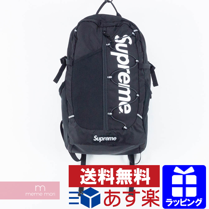 36680fe23cc3 Supreme 2017SS Back Pack シュプリームロゴプリントナイロンバックパックリュックバッグブラック Father's Day  present