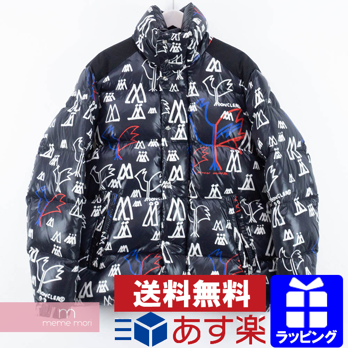 MONCLER 2018AW Mareness Padded Coat Monk rail down jacket whole pattern zip up black size 3 present gift