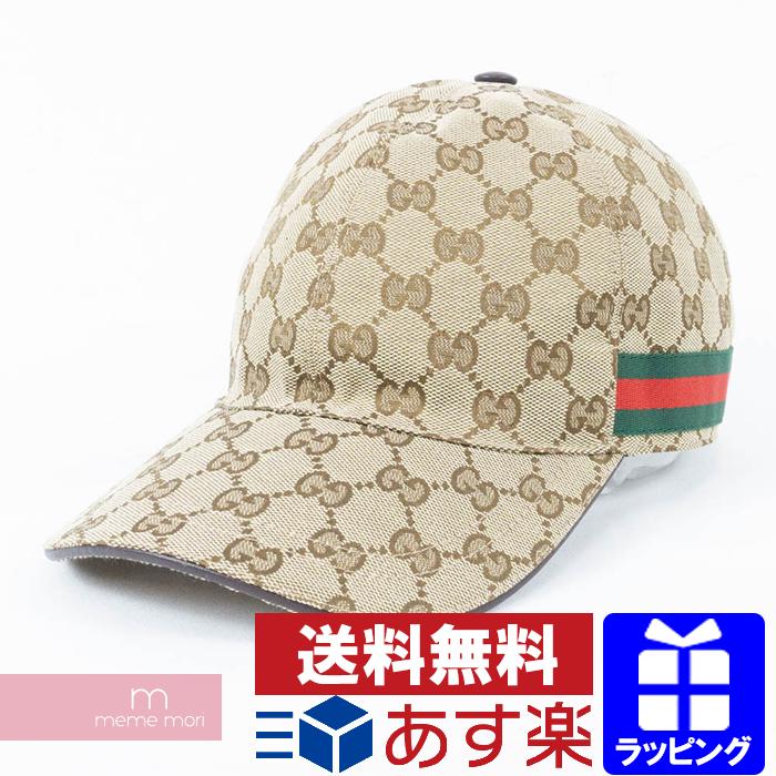 b060840c GUCCI 2018AW Original GG canvas baseball hat with Web Gucci original GG  canvas baseball hat cap ...