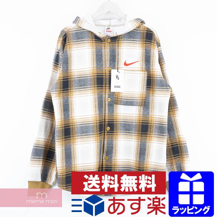 5a3941a1 Supreme X NIKE 2018AW Plaid Hooded Sweatshirt シュプリーム X Nike pre-id hooded  sweat shirt ...