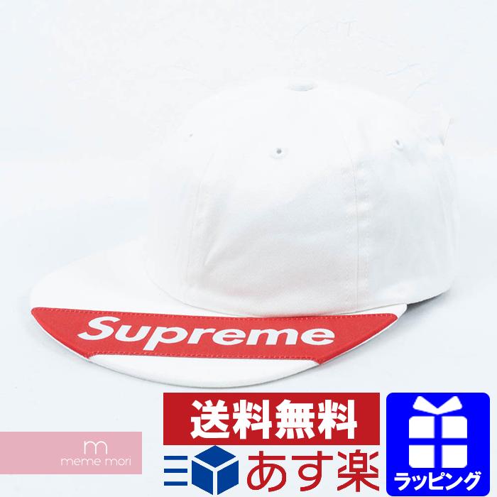Supreme 2018SS Visor Label 6-Panel シュプリーム バイザーラベル6パネルキャップ 帽子 ホワイト【190112】 プレゼント ギフト【新古品】