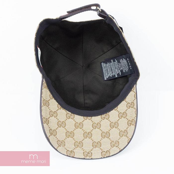 7e976517b8f70 GUCCI Original GG Canvas Baseball Cap Gucci original GG canvas baseball cap  hat beige size L present gift
