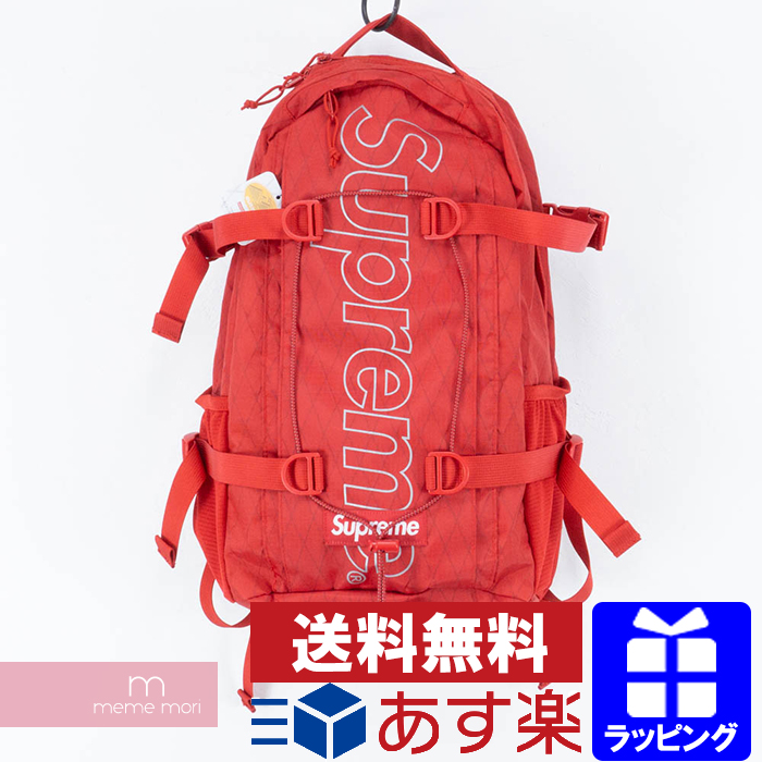 Supreme 2018AW Back Pack シュプリーム ボックスロゴバックパック リュック バッグ かばん レッド プレゼント ギフト【190120】【新古品】