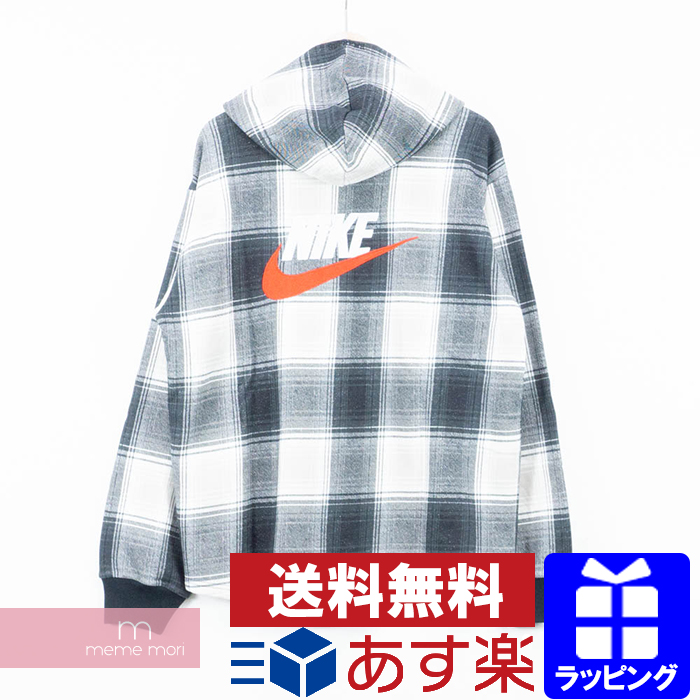 popular brand select for latest search for official Supreme X NIKE 2018AW Plaid Hooded Sweatshirt シュプリーム X Nike pre-id hooded  sweat shirt shirt parka black X white size M present gift