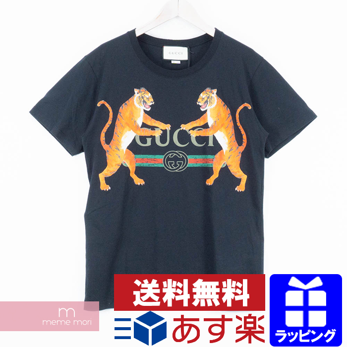 4f40859c7cd0 GUCCI 2018SS Tiger&GUCCI Logo Oversized T-Shirt Gucci tiger & Gucci  logo ...