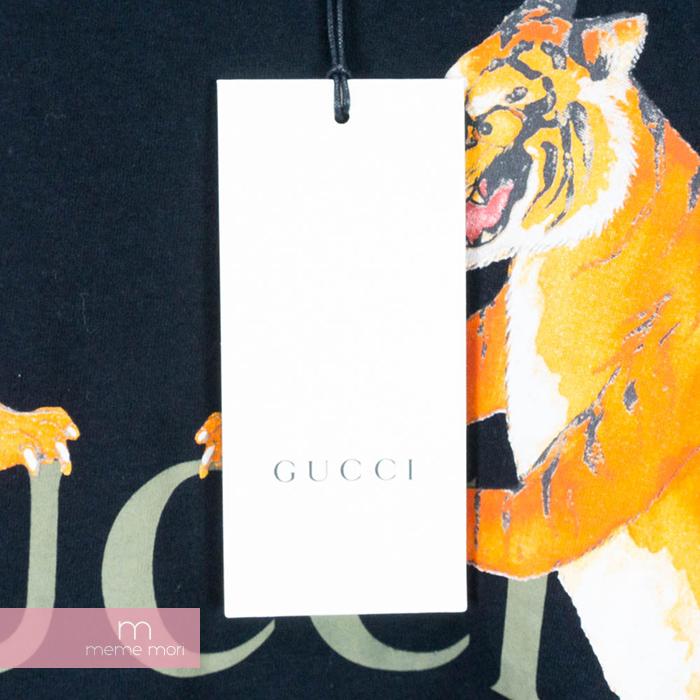 6ea5b126 ... GUCCI 2018SS Tiger&GUCCI Logo Oversized T-Shirt Gucci tiger &  Gucci logo ...