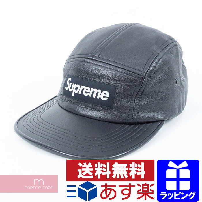 8dca0289 Supreme 2015AW Leather Camp Cap シュプリームレザーキャンプキャップ hat leather black  Father's Day present gift ...