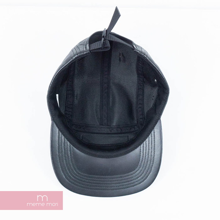 1373ce73 ... Supreme 2015AW Leather Camp Cap シュプリームレザーキャンプキャップ hat leather black  Father's Day present gift ...