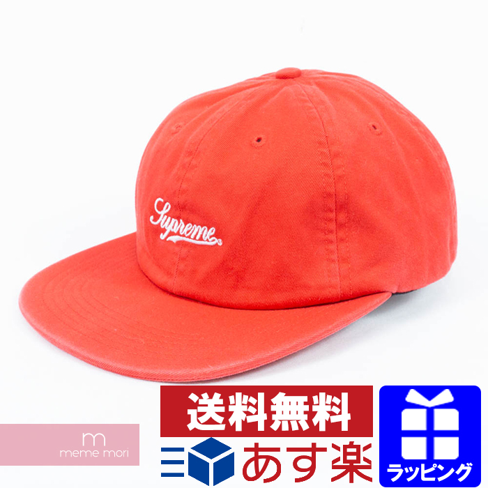 Supreme 2018SS Side Pocket Script Logo 6-Panel Cap シュプリームサイドポケットスクリプトロゴ 6  panel cap hat red Valentine present gift 55dbfce5bb4