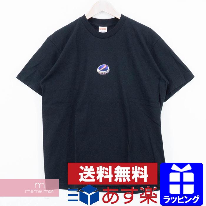 Supreme 2018AW Bottle Cap Tee シュプリーム ボトルキャップTシャツ 半袖カットソー ブラック サイズS【200708】【新古品】
